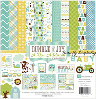 Bundle Of Joy BABY Boy Collection 12X12 Scrapbooking Kit Echo Park Paper Co New