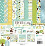 Bundle Of Joy BABY Boy Collection 12X12 Scrapbooking Kit Echo Park Paper Co New