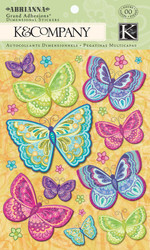BUTTERFLY ABRIANNA 3D Scrapbook Stickers K&Company NEW