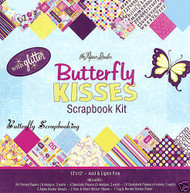 BUTTERFLY KISS 12X12 Scrapbooking Kit Paper Studio NEW