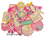 Butterfly Kiss Collection Scrapbooking 50 Die Cuts Collectables Kaisercraft NEW
