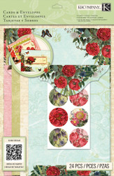 CARD KIT Beyond Postmarks Botanical B Create 8 Cards & Envelopes K&Company NEW