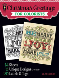 CHRISTMAS For COLORISTS Card Making & Paper Crafting HOT OFF THE PRESS 8505 New