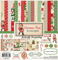 CHRISTMAS TIME 12X12 Scrapbooking Kit Carta Bella Paper Co. CB-CT33016 NEW
