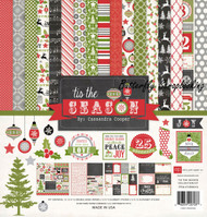 CHRISTMAS Tis The Season Collection 12X12 Scrapbooking Kit Echo Park Paper C New