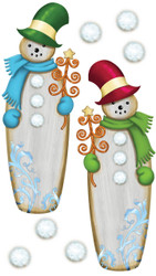 Christmas Wooden Snowman 3D Stickers Jolee's Boutique EK Success New