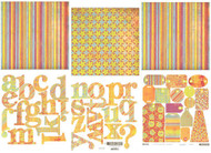 COLOR ME SILLY BASICGREY 12X12 Scrapbooking Kit NEW