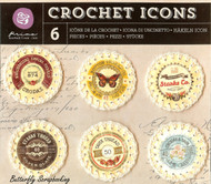 Crochet Icons Embellishments PRIMA MARKETING INC. Embellishments #573683 NEW