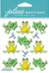 CUTESY FROGS 3D Stickers Jolee's Boutique EK Success 50-21832 NEW