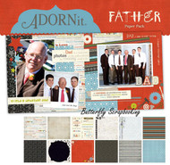 Dad Father Collection 12X12 Scrapbooking Paper Pack Adornit Carolees New