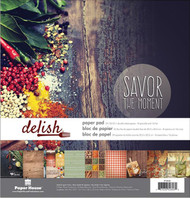 Delish - Savor The Moment 12x12 Scrapbooking Paper Pack Paper House PP-0058 NEW