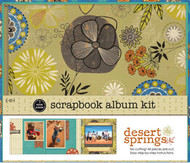Desert Springs Collection 8x8 Scrapbooking Album Kit 1 Hour Album 20 pages SEI