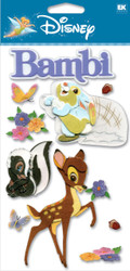 DISNEY Bambi & Bunny 3D Stickers by EK Success New