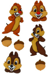 DISNEY CHIPMUNKS CHIP DALE Buttons Dress It Up Button Embellishments Jesse James