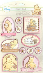 DISNEY Classic Winnie The Pooh 3D Stickers Baby Girl EK Success New