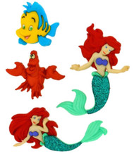 DISNEY LITTLE MERMAID Buttons Dress It Up Button Embellishments Jesse James New