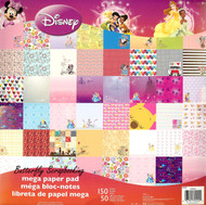 DISNEY MEGA #2 150 Sheet Paper Pad 12X12 Scrapbooking Paper Pad SANDYLION New