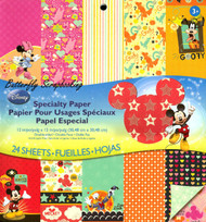 Disney Mickey & Friends 12x12 Scrapbooking Paper Pad 24 Sheets EK SUCCESS New