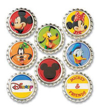DISNEY MICKEY & FRIENDS Bottle Caps Embellishments EK Success DBCM001 NEW