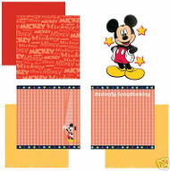 DISNEY MICKEY Collection 12X12 Scrapbook Kit SANDYLION