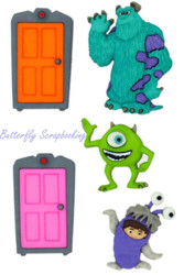 DISNEY MONSTERS INC Buttons Dress It Up Button Embellishments Jesse James NEW