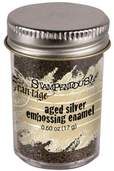 Embossing Powder Frantage Aged Silver Embossing Enamel .65oz Jar Stampendous NEW