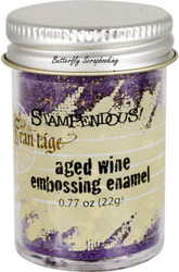 Embossing Powder Frantage Aged WINE Embossing Enamel .77oz Jar Stampendous NEW