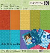 Essentials Designer Scrapbooking 12X12 Paper Pad BIG 150 Sheets K&Company NEW