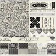 EVERLASTING Collection 12x12 Scrapbooking Paper Crafting Kit Authentique NEW