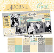 Family Forever Capri Collection 12X12 Scrapbooking Paper Pack Adornit New