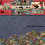 FAMILY TIES 12x12 Scrapbooking Double Side Paper Pack HOT OFF THE PRESS 4236 NEW