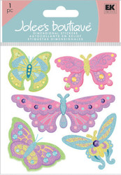 Fancy Glitter Butterflies 3D Stickers Jolee's Boutique EK Success New 50-20416