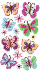 Fancy Paisley Butterfly Butterflies 3D Stickers Jolee's Boutique EK Success New