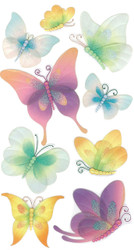 Fancy Vellum Butterfly Butterflies 3D Stickers Jolee's Boutique EK Success New
