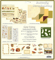 FISHING Gone Fishing Fish OUTDOORS 12X12 Scrapbooking Kit Paper Studio NEW