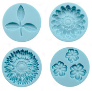 Flower & Leaves Molds for Crafters Clay Martha Stewart Crafts Paper Crafting NEW
