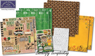 Football Star Sports 12X12 Scrapbooking Kit Champions Touchdown Karen Foster NEW