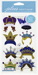 Fun Crowns EK SUCCESS Jolee's Boutique 3D Stickers NEW