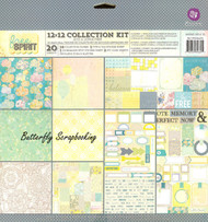 Fun Free Spirit Collection 12x12 Scrapbooking Paper Pad PRIMA Paper Crafting NEW