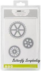 GEARS & COGS SET 3 Die Cutting Dies Kaisercraft Decorative Dies DD706 NEW