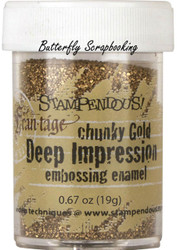 GOLD Deep Impression Embossing Enamel Powder Frantage Stampendous FREG046 New