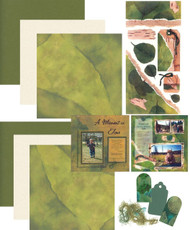 GREEN LEAF 12X12 Scrapbooking Kit LIMITED Karen Foster
