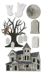 Halloween Gost Haunted House Jolee's Boutique 3D Stickers by EK Success New