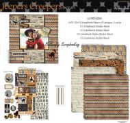 HALLOWEEN Jeepers Creepers 12X12 Scrapbooking Kit Paper Studio NEW