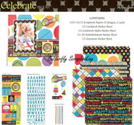 Happy Birthday Celebrate 12X12 Scrapbooking Kit The Paper Studio Memories NEW