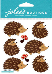 HEDGEHOGS 3D Stickers Jolee's Boutique EK Success 50-21830 NEW
