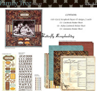 Heritage FAMILY TREE Ancestry 12X12 Scrapbooking Kit The Paper Studio 959361 NEW