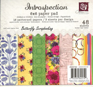 INTROSPECTION COLLECTION Scrapbooking 6x6 inch Paper Pad PRIMA 48 Sheets NEW