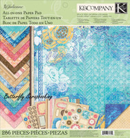 Julianne Paper Pad Scrapbooking Kit K&Company 286 Pieces Die cuts Papers Alp NEW