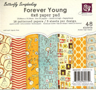 KID FOREVER YOUNG COLLECTION Scrapbooking 6x6 inch Paper Pad PRIMA 48 Sheets NEW